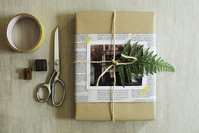 Fern-wrapped-gift